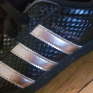 adidas Shoes - Adidas Superstar Snakeskin Rose Gold Sneakers 8
